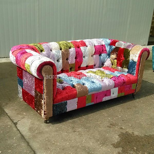 chine usine moderne amovible tissu chesterfield patchwork canap autres meubles en bois id de. Black Bedroom Furniture Sets. Home Design Ideas