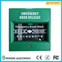 Good quality emergency door release button break glass with Alam system