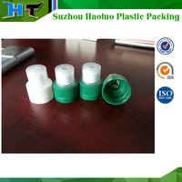 28mm plastic push pull sports water bottle caps with dust cover, double safey plastic cap