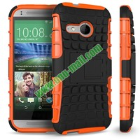 Detachable Antiskid PC and TPU Hybrid Rugged Case for HTC One 2 M8 Mini