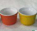 Dos tonos de color personalizado en relieve de cerámica venta al por mayor clásica cazuela