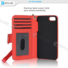 Custom logo wallet cell phone case cover for iph 6