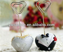 Bride and Groom Heart Place Card Holders Wedding Favors