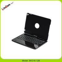 Hot Popular 360 Degree Rotating Bluetooth Keyboard Case for iPad air 2 OEM keyboard languang Spanish Arabic French German