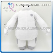 Mini Qute America Hot Selling cartoon model big hero 6 baymax stuffed plush dolls kids collection educational toys NO.BH013