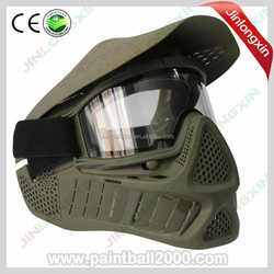 Double Lens Comfortable Soft Anti Fog Paintball Mask for Outdoor Paintball Game