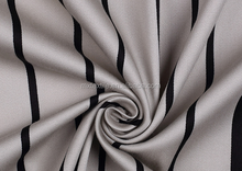 Striped stretch satin fabric/for clothing/100% cotton fabric/for dress
