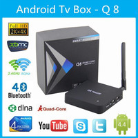 Voxlink Q8 Android TV box RK3288 Quad Core 1.8Ghz ,2G/8G HDMI Media Player with Antenna 2.4G+5G D