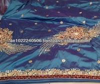 First Ladies Silk George Lace Fabrics 2015 Hand work Stone