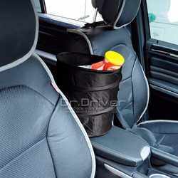 unique folding car mini trash polyester bag or can for household cleaning