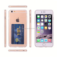 Factory Price Ultral thin Gel TPU case cover with card holder case for iPhone 5 5s