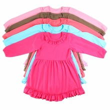 2015 new style long sleeve cute girls dress wholesale baby girl winter dresses