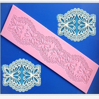 wholesale flower star shaped silicone fondant silicone lace mat sugar lace mat cake lace mold for cake decorating