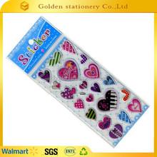 2015 well selling children product cartoon cute epoxy halloween sticker