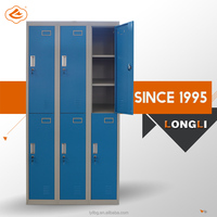 classroom cabinet/six doors steel locker/steel wardrobe locker