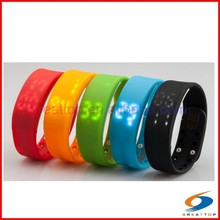 new led 3d smart instructions watch calories wristband pedometer