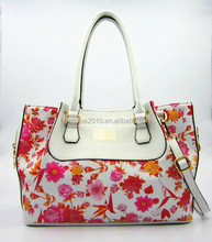 Summer fashion ladies handbag with flower print