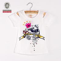 Popular crown pattern short sleeve children wear t shirt