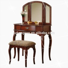 DT-807 European classic dresser, teak dressing table, wooden model furniture bedroom dressing table with mirror