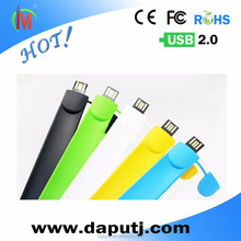 Stocked cheal silicone slap usb flash drive
