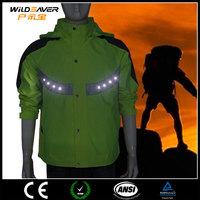 Hi Vis reflective LED light safety jacket