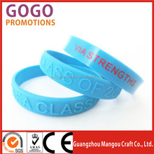 cheap and high quality silicone embossed hand band,personalized embossed silicone wrist band for promotional gift with adult/kid