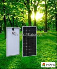 High efficiency low solar panel price Chinese Zhejiang Ningbo Ring Electronics Co.,Ltd18V 130W mono flexible solar panel