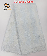 2015 latest swiss voile lace in switzerland in white for wedding