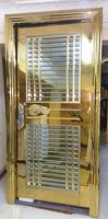 Single door stainless steel door golden color