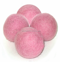 Coloured handmade wool felt balls