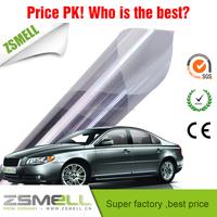 Zsmell Car reflective window tinting film, Korea PET material,heat insulation