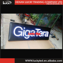 3D LED Embossing Acrylic Letter Sign With Backboard