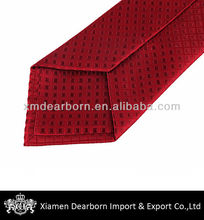 7 Fold Red Silk Ties