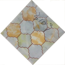 300x300mm crystal polished with gold decorative tile