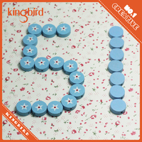 Kids diy toy colored wooden hair beads hotsale