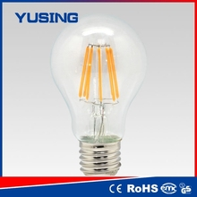 3 year warranty edison bulb e27 8w LED filament bulb king
