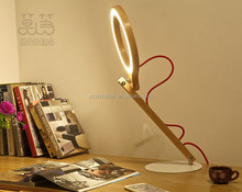 Super Bright but un-glare Reading Book Light circle head line leg reading light table lamp