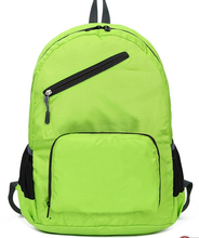 Polyester fold up backpack