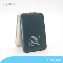 Metal shell mobile slim power bank 5000mah