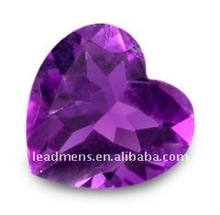 Amethyst Heart-shape cubic zirconia CZ synthetic gemstones beads glass rough,LeadMens quality goods