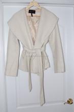 coats ladies short hooded belted coat used acrylic wool 2015 summer autumn latset design coats