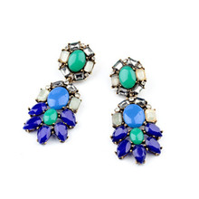 Wholesale Fashion Statement Shourouk Vintage Crystal Earrings Accessories E10194