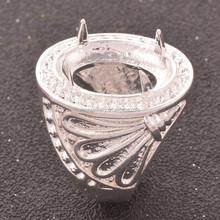 Indonesia hot sale men's alloy ring in silver coated