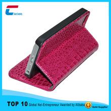 book wallet Genuine flip Leather Case for Iphone 5 ,for iphone 5 genuine leather case