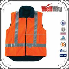 Wholesale China Class-2X-Back navy orange high visibility reflective safety thermal cotton vest