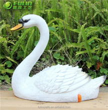 "14.6"" Resin Swan Figurine "" Swan In the Pool """