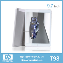 T98 Quad Core 3G Tablet PC MTK 8382 with android 4.4 IPS screen and OEM customization
