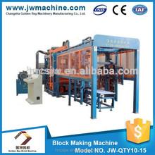 Popular automatic interlocking brick machine, concrete block making machine, slipform paver JW-QTY10-15