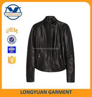 winter leather jacket wholesale lady's leather motorcycle coats jackets