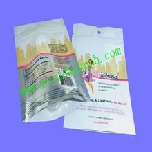 custom printed food grade bottom gusset foil lined nutrition plastic zipper bag
